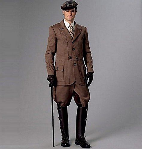 Men's Steampunk Clothing, Costumes, Fashion Banded Jacket Breeches & Jodhpurs XN (X-Large-XX-Large-3X-Large) $13.20 AT vintagedancer.com