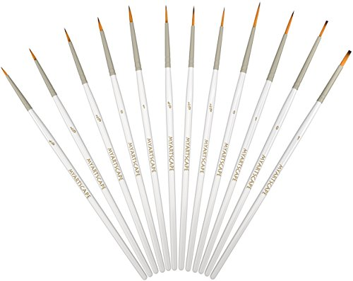 Detail Paint Brush Set12 Miniature Brushes for Fine Detailing