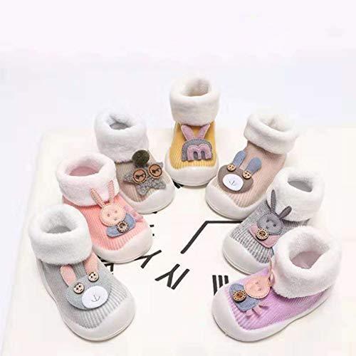Amarillo Zapatos Años Antideslizantes 0 Animados Niñas Bebé Niña Invierno Primeros Niño Pasos Suelas Conejo Boots De Para Mitlfuny Zapatillas Goma Niños Algodón Piso 3 Calcetines Dibujos n4IqpqBSx