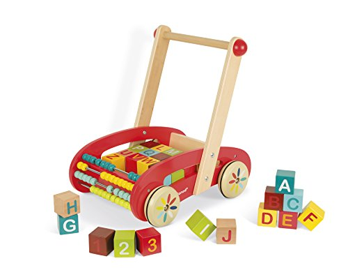 Janod ABC Walking Trolley with (Wooden Buggy)