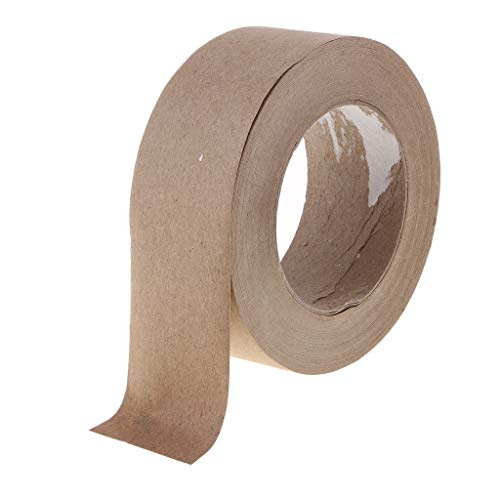 - Fenteer 55 Yards Brown Kraft Paper Sealing Adhesive Tape for Packaging and Shipping with 36mm Width, Water Activated Tape - 48mm