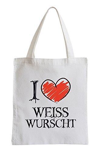 Amo Weißwurscht Fun sacchetto di iuta