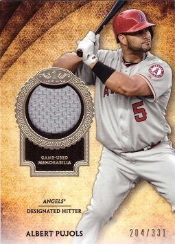 (2017 Topps Tier One Relics #T1R-APU Albert Pujols Game Worn Los Angeles Angels Jersey Baseball Card - Only 331 made! )