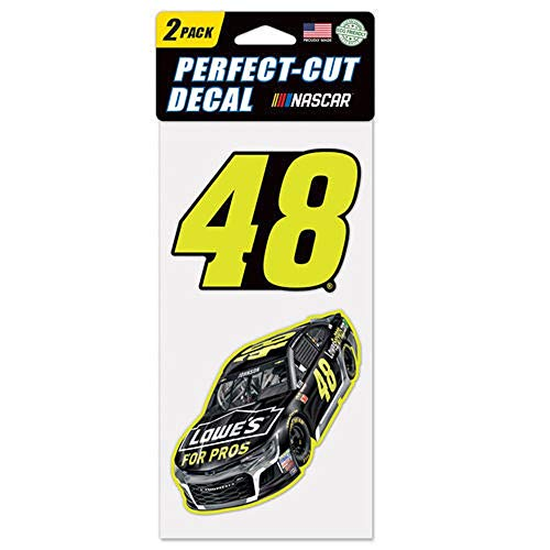 (WinCraft NASCAR Jimmie Johnson Perfect Cut Decal (Set of 2), 4
