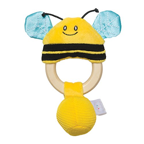 Bumble Bee Rattle - Manhattan Toy Squeaker Bee & Baby Teether