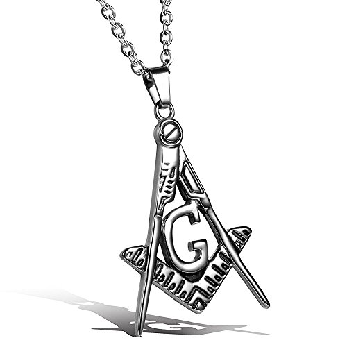 Christmas Gifts Mens Stainless Steel Freemason Symbol Pendant Necklace 22in - Homemade Nun Costume