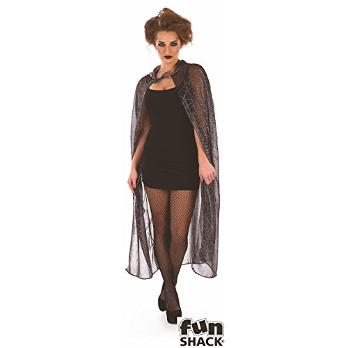 Hooded Spider Web Cape (Spider Cape Hooded Web)
