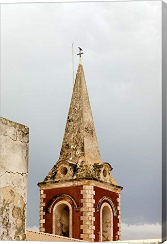 Africa, Mozambique, Island. Steeple at The Governors Palace Chapel. by Alida Latham/Danita Delimont Canvas Art Wall Picture, Gallery Wrap, 25 x 38 inches