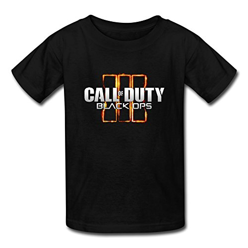 JIAYOUCT Kid's Call Of Duty Black Ops 3 Logo T-shirt Size S Black