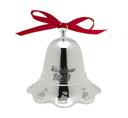 2014 Christmas Bell - Towle 2014 Silver-Plated Music Bell Plays Skaters Waltz Ornament, 34th Edition