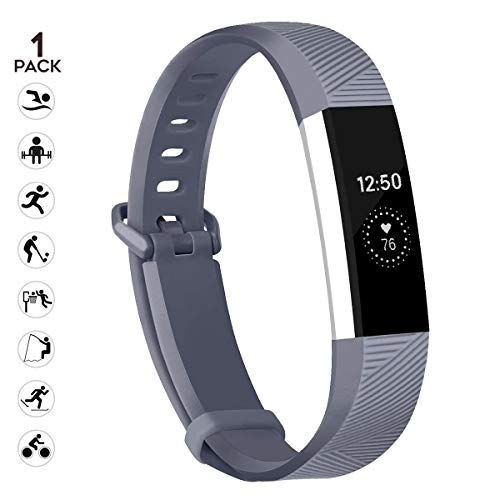 sunyfeel Compatible with Fitbit Alta HR and Alta Band Replacement, Fashion Sports Silicone Personalized Replacement Bracelet with Metal Clasp for Fitbit Alta HR/Alta -