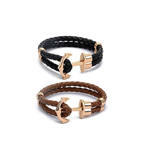 couples-anchor-bracelet-men-cuff-leather-bracelet-for-women-black