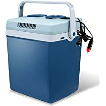 Knox Electric Cooler and Warmer for Car and Home - 34 Quart (32 Liter) - Dual 110V AC House and 12V DC Vehicle Plugs - Blue
