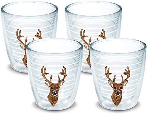 (Tervis 1013415 Deer Tumbler with Emblem 4 Pack 12oz, Clear)