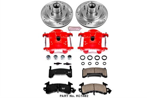 Chevrolet Disc S10 Brake (Power Stop KC1482 1-Click Performance Brake Kit with Calipers, Front Only)