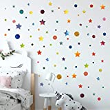 Best Wall Stickers For Bedroom Vinyls - 3D Learning LLF Stars and Circles Wall Decals Review