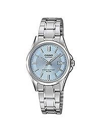 CASIO LTS-100D-2A1VEF - Reloj analógico de cuarzo para mujer con correa de acero inoxidable