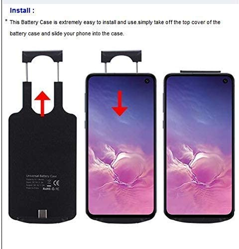 Type C Port Battery Case,Power Battery Case 5000mAh Portable Protective Charging Case w//Cable 3ft for LG G8X ThinQ LM-G850UM Cellphone
