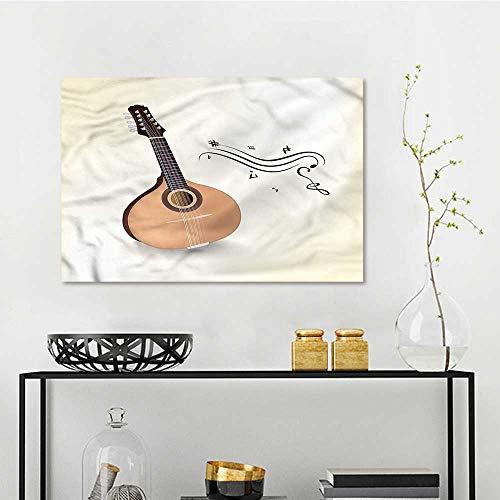 (one1love Mandolin Art Oil Painting Russian Mandolin Musical for Living Room,Dinning Room, Bedroom W47)