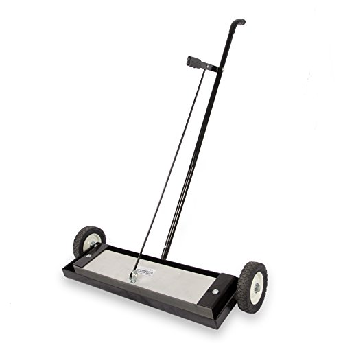 "Master Magnetics Magnetic Sweeper Heavy Duty Push-Type with Release, 24"" Sweeping Width, 1 each, Part No. MFSM24RX"