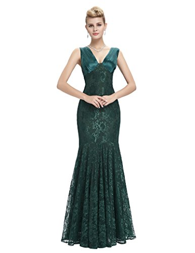 Robe Dress fonc Moulante Prom Long Sans Manche Vert Belle Vert Femme q1f6t4E