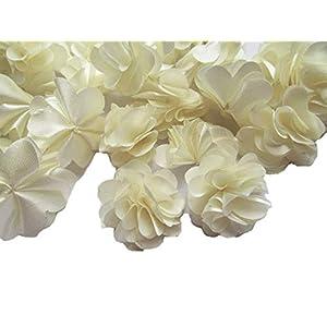 "YYCRAFT 20pcs 1 1/4"" Handmade Sewn Satin Flowers DIY Flower for Headbands Craft,Wedding Party Decoration 1"