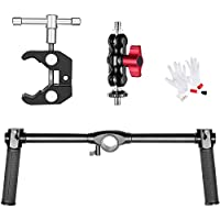 Neewer Photography Dual Handheld Grip Kit for Neewer/Zhiyun Crane and Crane M 3-Axis Handheld Gimbal Stabilizer, Includes Dual Handheld Grip, Large Super Clamp, Ball Head and 3-in-1 Cleaning Kit
