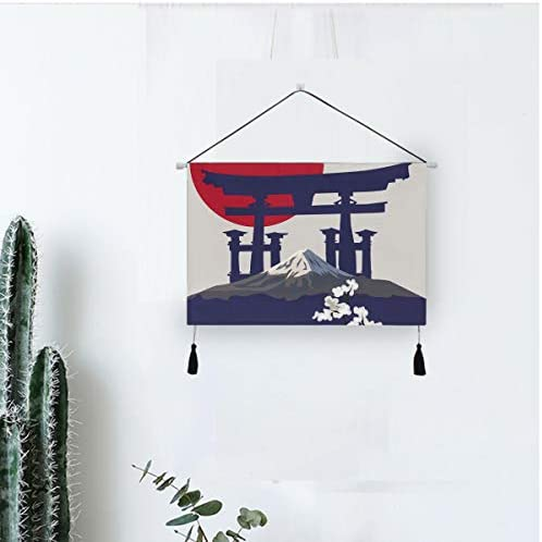 タペストリー 掛け軸 日本 和風 桜 さくら 鳥居 とりい 富士山 掛け物 掛けじく 模様替え 飾り用 装飾用 飾り付けセット 壁画 装飾用品 キャンバス印刷 アートポスター インテリア 組立式 部屋飾り壁 壁飾り 多機能 個性 壁アート 装飾画 人気 おしゃれ