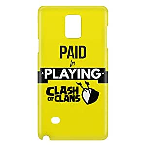 Loud Universe Galaxy Note 5 Paid For Playing Clash of Clans Print 3D Wrap Around Case - Yellow