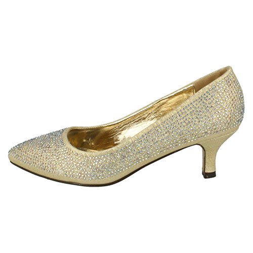 Anne Michelle Damen Glitzer Pumps Gold