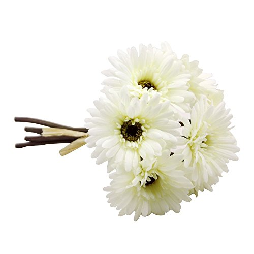 Gerbera Daisy Artificial Flowers for Farmhouse Home Decor 7 Stems Silk Daisies Flower for Wedding Bouquet Living Room Office Party DIY Decoration