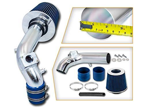 Rtunes Racing Short Ram Air Intake Kit + Filter Combo BLUE Compatible For 08-14 Mitsubishi Lancer 2.0L/2.4L ...
