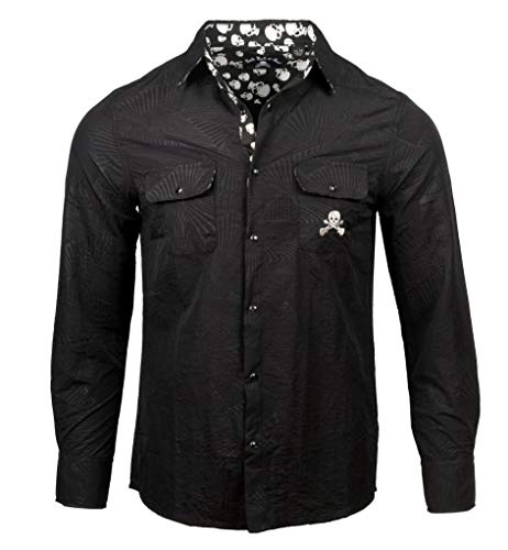 (Rock Roll n Soul 'I Can't Drive 55' Men's Long Sleeve Black Shirt 779 (2XL))