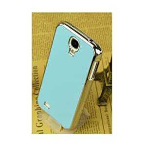 Light Blue Premium Chrome Brushed Aluminum Surface Hard Case For Samsung Galaxy S 4 SIV I9500
