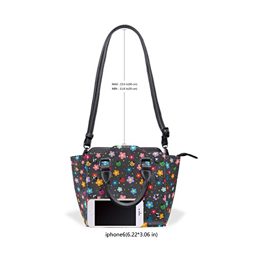 Tote Handbags Ladybugs Shoulder And Women's Flowers Leather TIZORAX Bags BRp4x