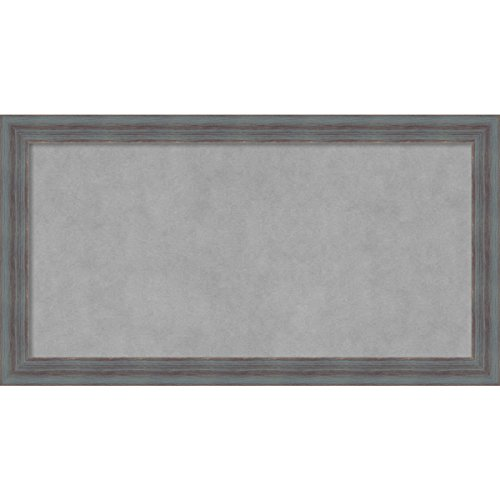 Amanti Art Dixie Grey Rustic: Outer Size 26 x 14'' Framed Magnetic Board, Medium by Amanti Art