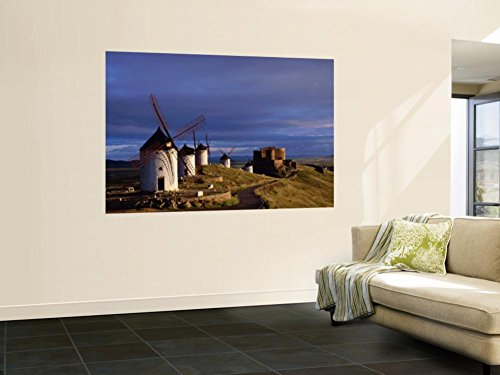 La Mancha, Windmills, Consuegra, Castilla-La Mancha, Spain Wall Mural by Steve Vidler 48 x 72in by JON ARNOLD IMAGES POD