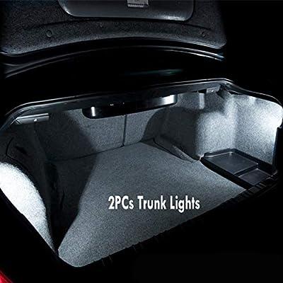 12Pc Super White 6000k Car Interior LED Light Bulb Kit Pack Compatible for 2003-2006 Subaru Baja: Automotive