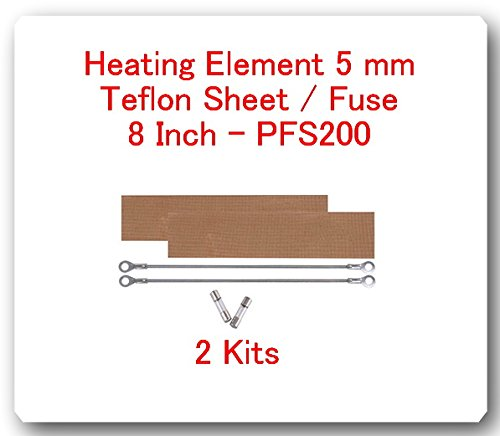 (2 Kits) Replacement Elements for Impulse Sealer PFS-200 8