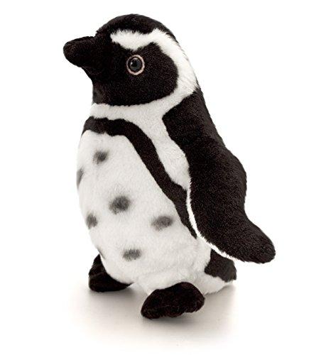 Keel Toys Plüschtier Humboldt Pinguin, schwarz - weißes Kuscheltier, Vogel ca. 20 cm im Set mit Bodybutter Kirsche - Johannisbeere, 7ml