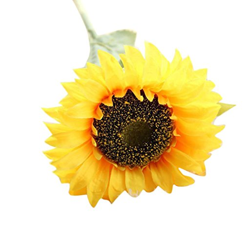 Alonea Artificial Fake Flowers Sunflower Floral Wedding Bouquet Party Home Decor Loving Life (1PC Single Sunflower)