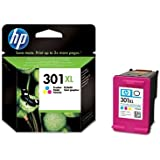 HP 301XL Tri-color Ink Cartridge - Cartucho de tinta para impresoras (Cian, magenta, Amarillo, Tri-color, Inyección de tinta, 20 - 80%, -40 - 60 °C, 15 - 32 °C) Si