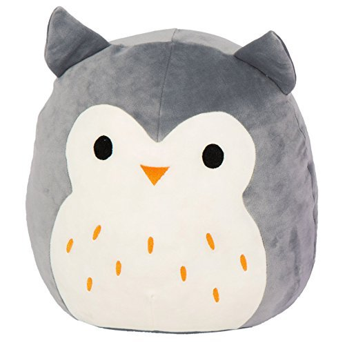 Kellytoy Squishmallow 8 Inch Hoot the Gray Owl Super Soft Pl