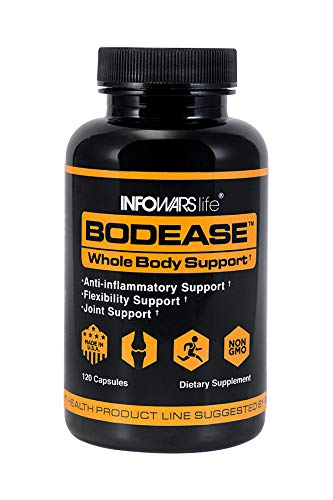 Infowars Life – BodEase Turmeric Supplement 120 Capsules Naturally Supports Joint Health, Mobility Anti-Inflammatory Support