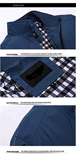Cappotto Copricapo Arrivo Moda Xxl Slim Collare Cappotti Green Di Jacket Giacche Primavera Uomo Giaccone Sottile Casual gwv4S1gq