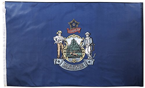Maine State Flag (Large New 3x5 Maine State Flag US USA American)