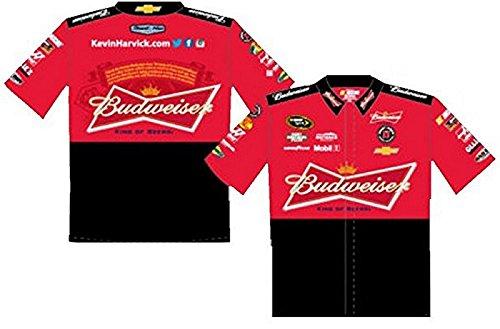 Nascar Pit Crew Shirts >> Kevin Harvick Budweiser Red Nascar Pit Crew Shirt Size Large At