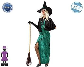 Atosa-61158 Atosa-61158-Disfraz Bruja-Adulto Mujer, Color verde, M ...
