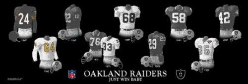 tory Oakland Raiders Uniforms Print ()