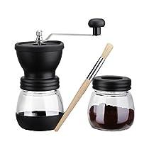 Longtop コーヒーミル 手挽き コーヒー粉粗さ調節可 セラミック製...